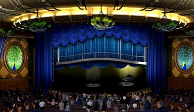 The Opal Theatre boasts 1,380 seats, it offers Broadway-style shows and 3D movies