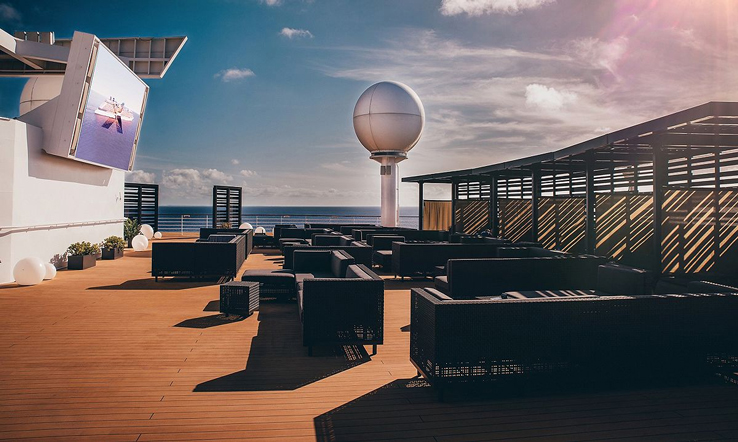A deck on Celebrity  Infinity