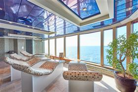 A  relax room in  the Royal Spa onboard the Queen Victoria