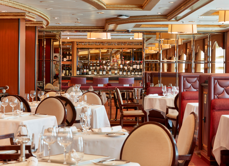 Todd English, a fine dining restaurant located on Queen Victoria's deck 2