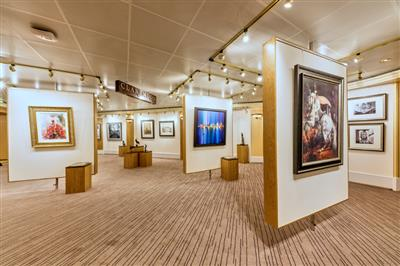 An art exhibition  on Cunard's Queen Victoria