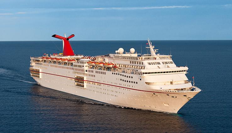 Carnival Ecstasy at sea.