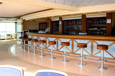A view of one of the poolside bar on-board of Azura.