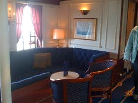 A sitting room on the Star Clipper