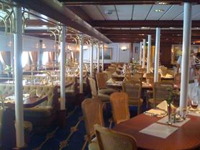The main dining room on the Star Clipper