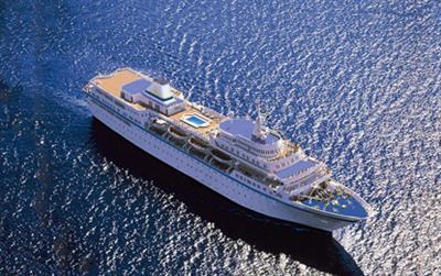 MV Aegean Odyssey, aerial view