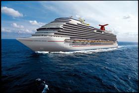 Carnival Magic, bow perspective while sailing