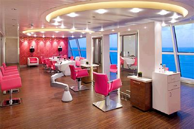 The beauty salon on Celebrity Reflection.
