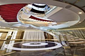 The main atrium on Seabourn Quest