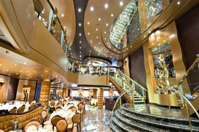 The Black Crab Restaurant, the seafood venue on the MSC Divina