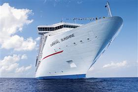 A view of Carnival Sunshine's bow.