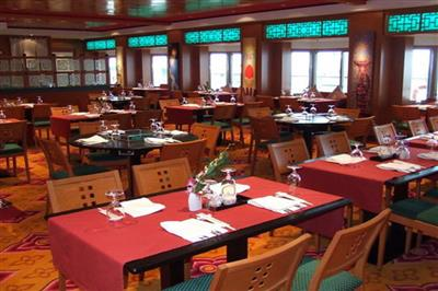 The Lotus Garden, a taste of Asia on Norwegian Pearl's deck 7