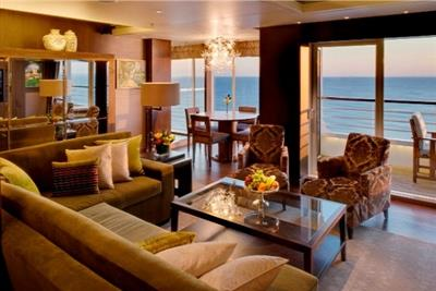 The Crystal Penthouse with Verandah on  Crystal  Symphony