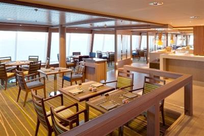 The Lido Café, a self-service  dining venue  onboard Crystal Symphony