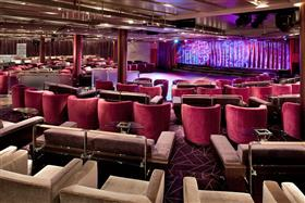 The Grand Salon Theatre, the main stage and entertainment area onboard Seabourn Sojourn
