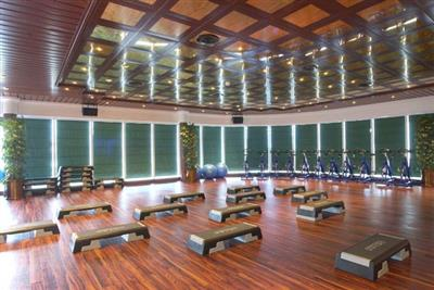 The spacious gym on Crown Princess