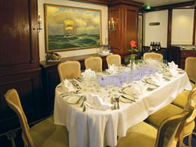 The dining room on the Royal Clipper