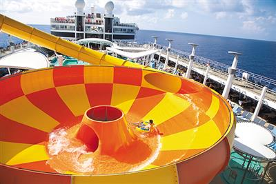 The 'Bowl' water slide on the Norwegian Epic