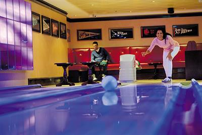 The Bowling Ally, which you can find  inside O'Sheehan's Bar on deck 6 of the Norwegian Epic