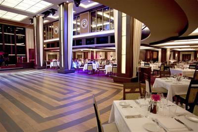 The Manhattan Room Restaurant, deck 6 of the Norwegian Epic
