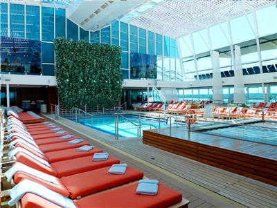 Solarium, the swimming pool on Celebrity Eclipse