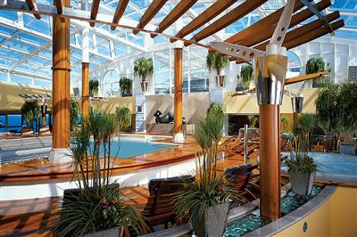 The leafy Acqua Spa onboard Celebrity Millennium.