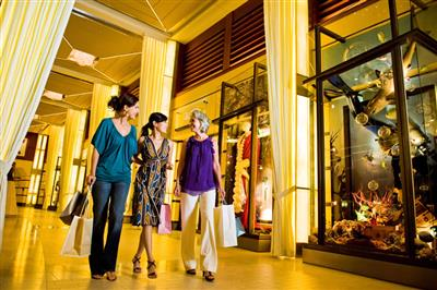 Celebrity Solstice has a rich shopping area.