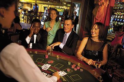 Passengers gambling at the casino on Celebrity Summmit.