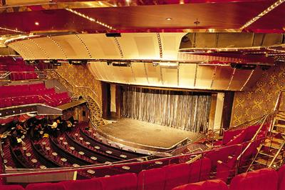 The  theatre stage on Costa Atlantica