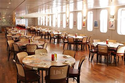 A casual dinner venue with flexible dining times on Costa  neoClassica