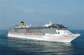Costa Mediterranea, exterior  while sailing
