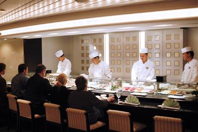 The Sushi Bar, on Crystal Serenity's Promenade Deck