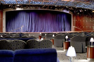 The Galaxy Show Lounge located on Crystal Serenity's Tiffany Deck