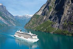 Crystal Serenity sailing  spectacular fjords