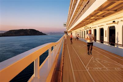 Crystal Serenity's outdoors jogging track