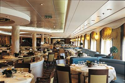 La Caravella, on deck 5, the main dining room on MSC Opera