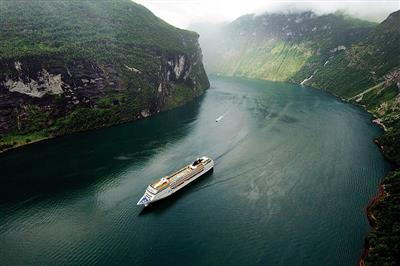 MSC Opera in a stunning natural scenario