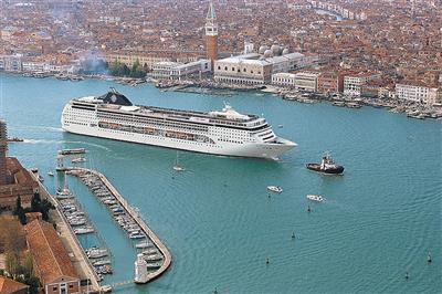 MSC Opera entering Venice