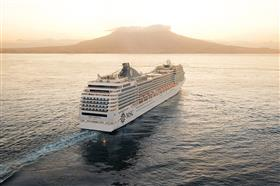 MSC Poesia, stern view