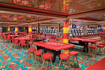 The Pearl Club Casino: enjoy  blackjack, craps, roulette and slots on deck 6