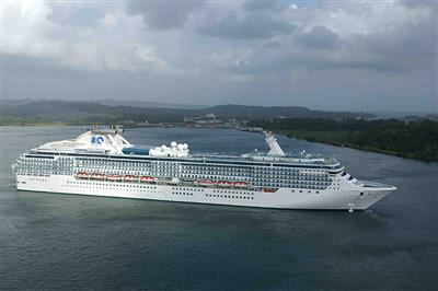 An aerial view of Coral Princess