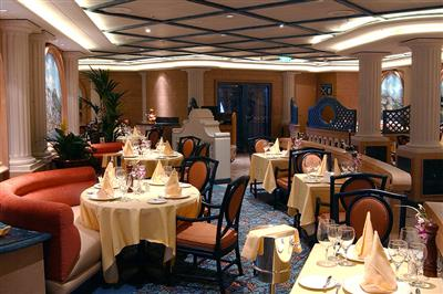 Sabatini's, the Italian dining venue onboard Diamond Princess