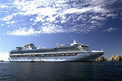 Another exterior shot of Diamond Princess