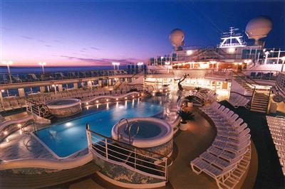 The Terrace Pool on the Golden Princess' Aloha Deck