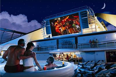 Movie Under the Stars, a  300 square foot outdoor LED screen