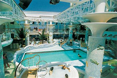 The Neptunes Reef  and Pool on the Lido Deck