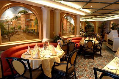 Sabatini's, the  Italian restaurant on Sapphire Princess' Promenade Deck