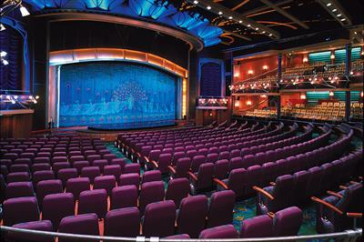 The stunning West-End style theatre on the Adventure of the Seas.