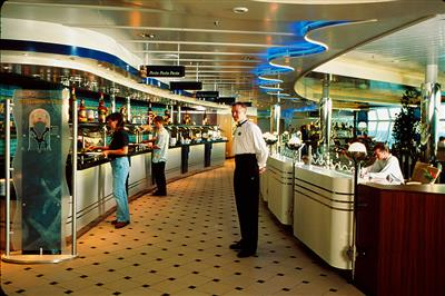 The Windjammer Café' on board of P&O's Adventure of the Seas.