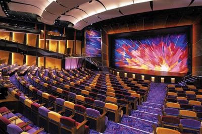 The impressive theatre on-board Brilliance of the Seas.